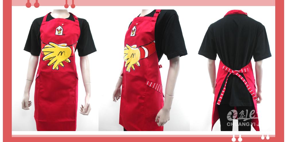 麥當勞,麥當勞圍裙,昆凌麥當勞叔叔之家,圍裙訂做
