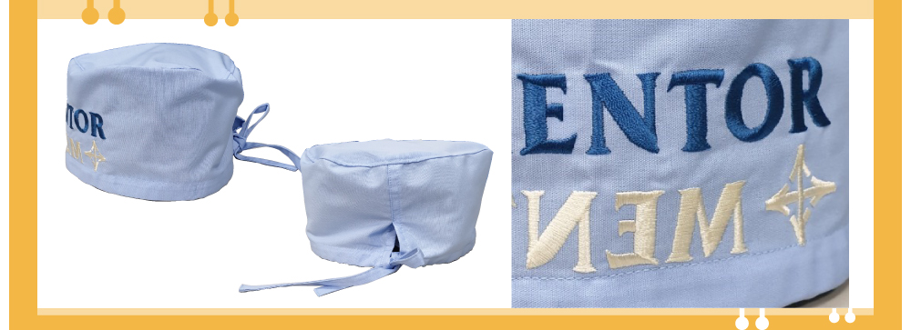 手術帽,制服,團體製作,創e家,客製化,電繡