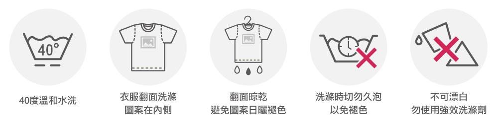 台灣創意家數位直噴洗滌說明,台灣創意家服飾,團體制服訂製,團體服客製化,MIT台灣工廠製造