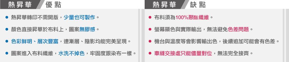 台灣創意家熱昇華滿版轉印,熱昇華優缺點,台灣創意家服飾,團體制服訂製,團體服客製化,MIT台灣工廠製造