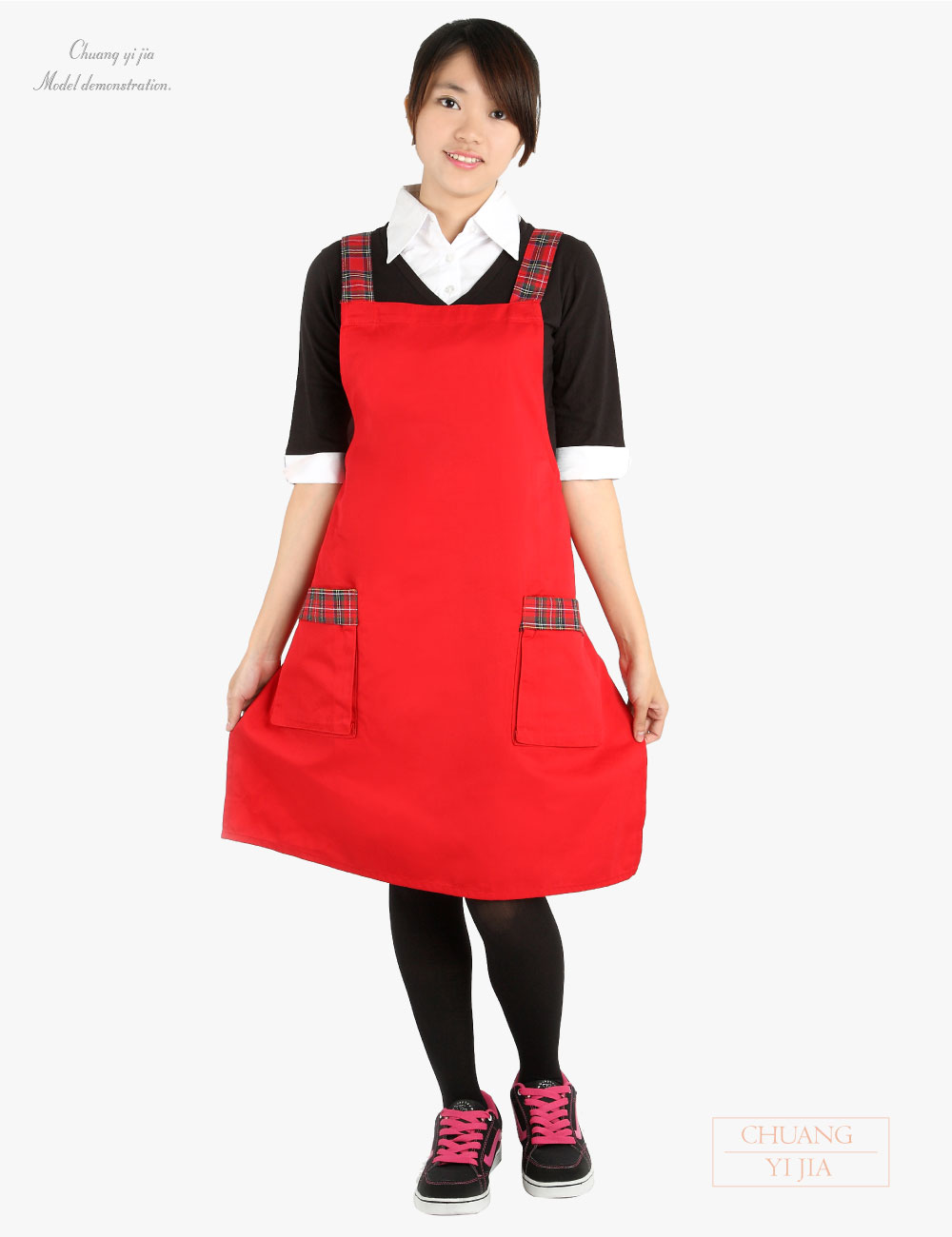 格子圍裙日式,廚師圍裙,烘培圍裙,園藝圍裙,防髒圍裙,日式圍裙,半截圍裙,圍裙訂製,職人日式圍裙圍