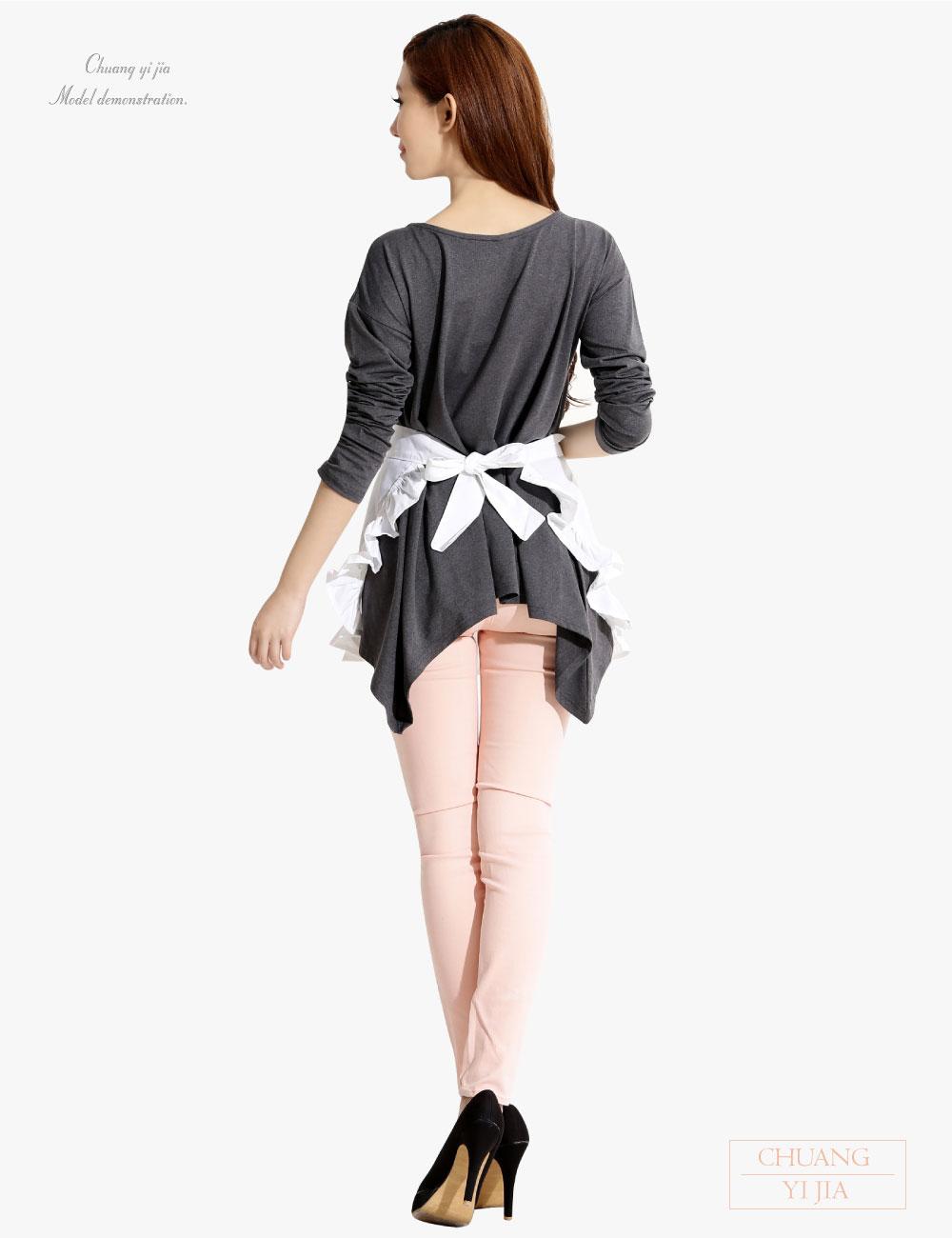 荷葉邊圍裙半截,專業圍裙,廚師圍裙,烘培圍裙,園藝圍裙,防髒圍裙,日式圍裙,半截圍裙,圍裙訂製,職人日式圍裙圍
