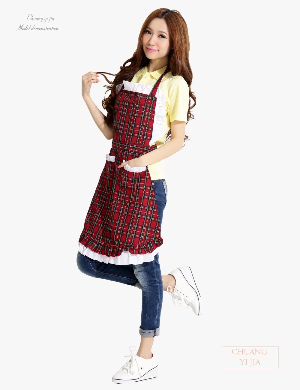 荷葉邊井式圍裙,內廚井式圍裙,幼兒園老師圍裙,烘培圍裙,園藝圍裙,防髒圍裙,日式圍裙