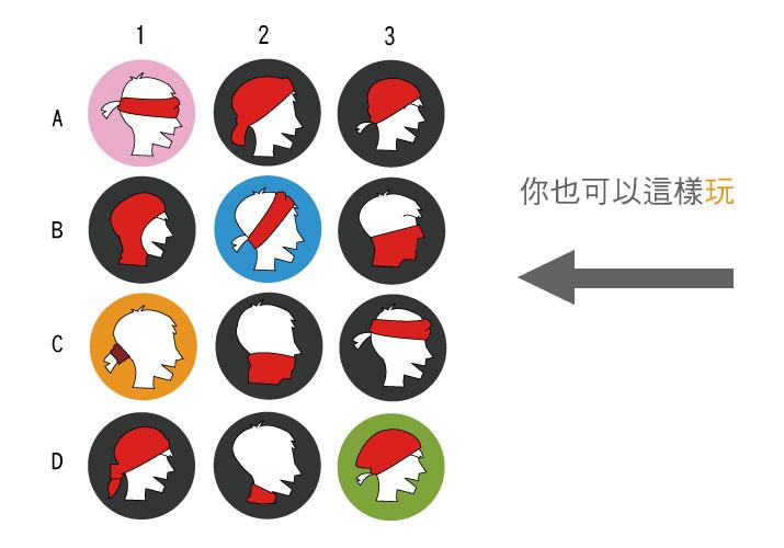 創意家團體服,台灣生產製造,餐飲頭巾,服務生領巾,時尚配件,頭巾,素面頭巾,四方頭巾,三角頭巾,餐飲頭帶,綁帶頭巾,海盜帽,廚師頭巾帽,頭巾帽