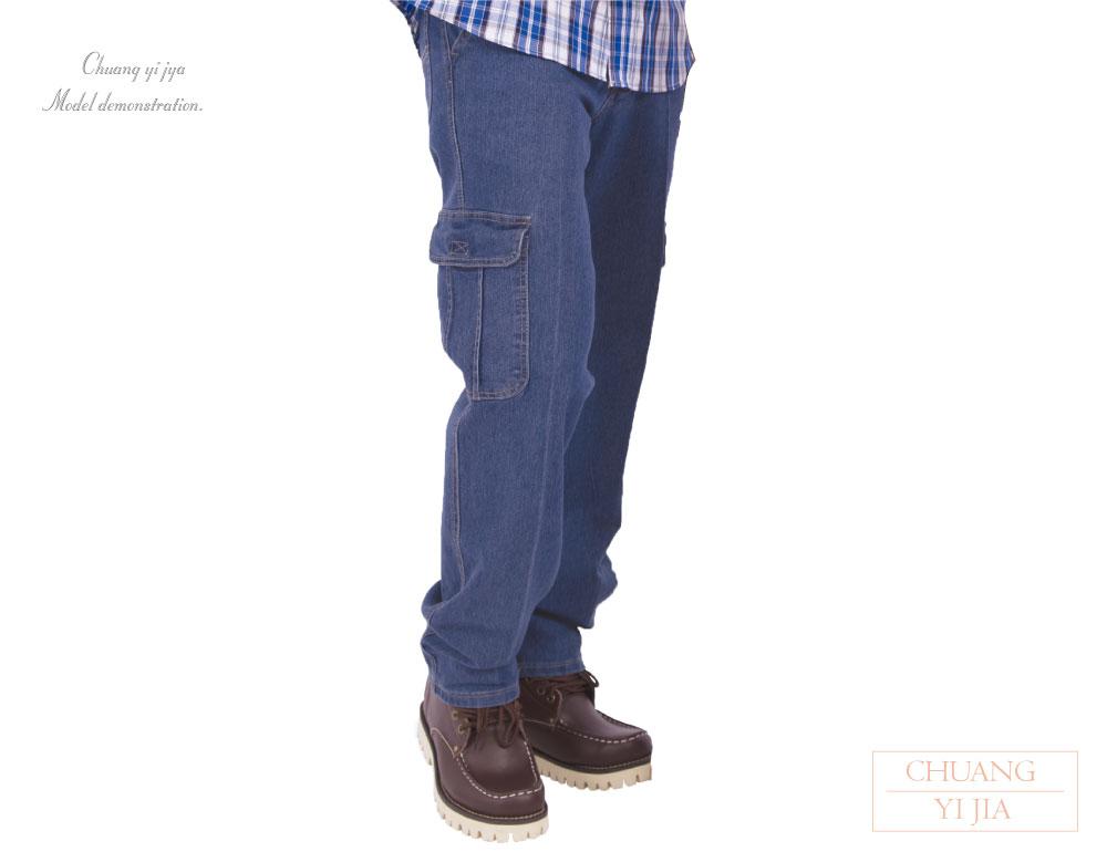 創意家團體服,工作褲,技師褲,油漆工褲,多功能褲,清潔工褲,維修工程褲,休閒褲,品牌褲,斜口袋彈力貼袋牛仔褲