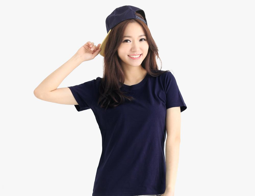 純棉T恤圓領短袖女版