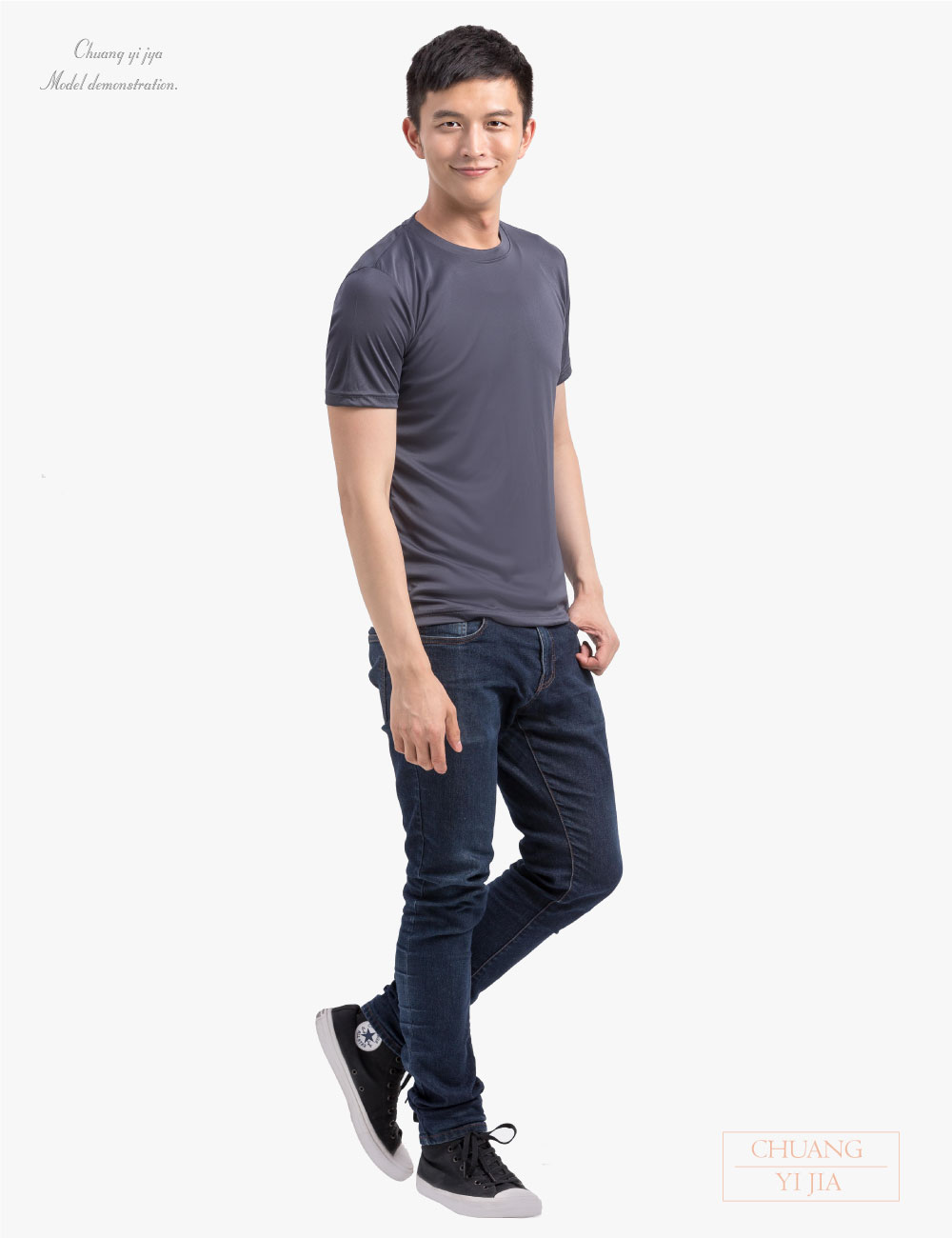 排汗T恤圓領短袖男版